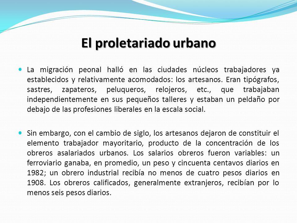 El proletariado urbano