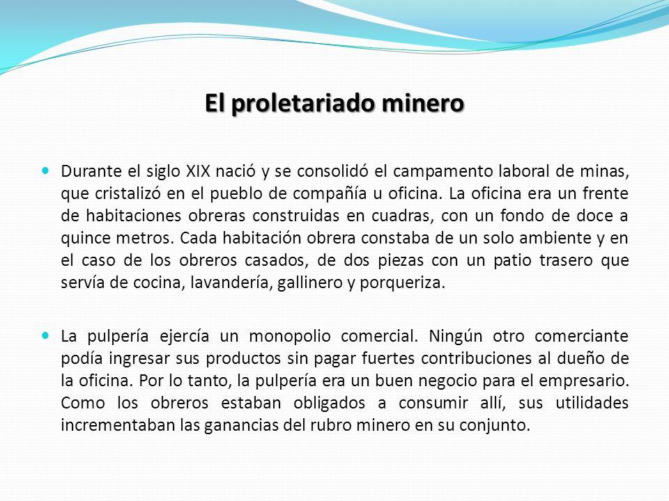 El proletariado minero