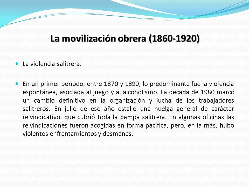 La movilización obrera (1860-1920)