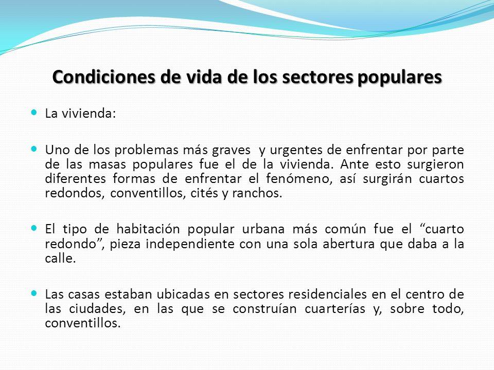 Condiciones de vida de los sectores populares