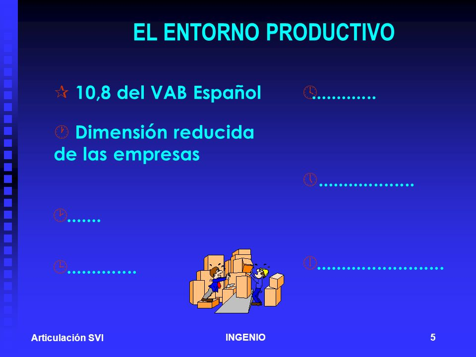 EL ENTORNO PRODUCTIVO 10,8 del VAB Español