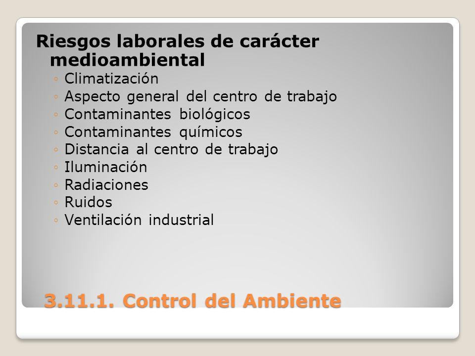 Riesgos laborales de carácter medioambiental