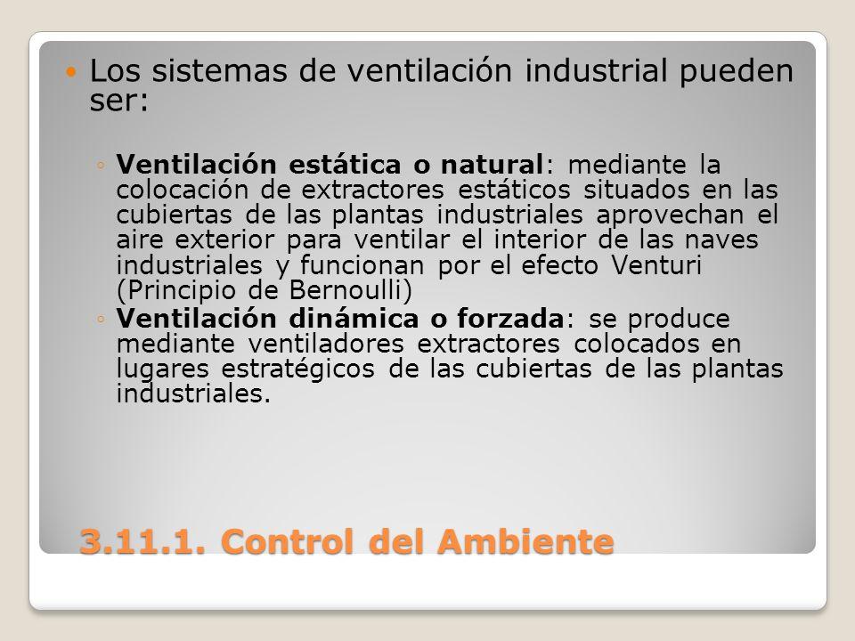 Los sistemas de ventilación industrial pueden ser: