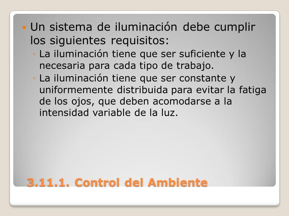 Un sistema de iluminación debe cumplir los siguientes requisitos: