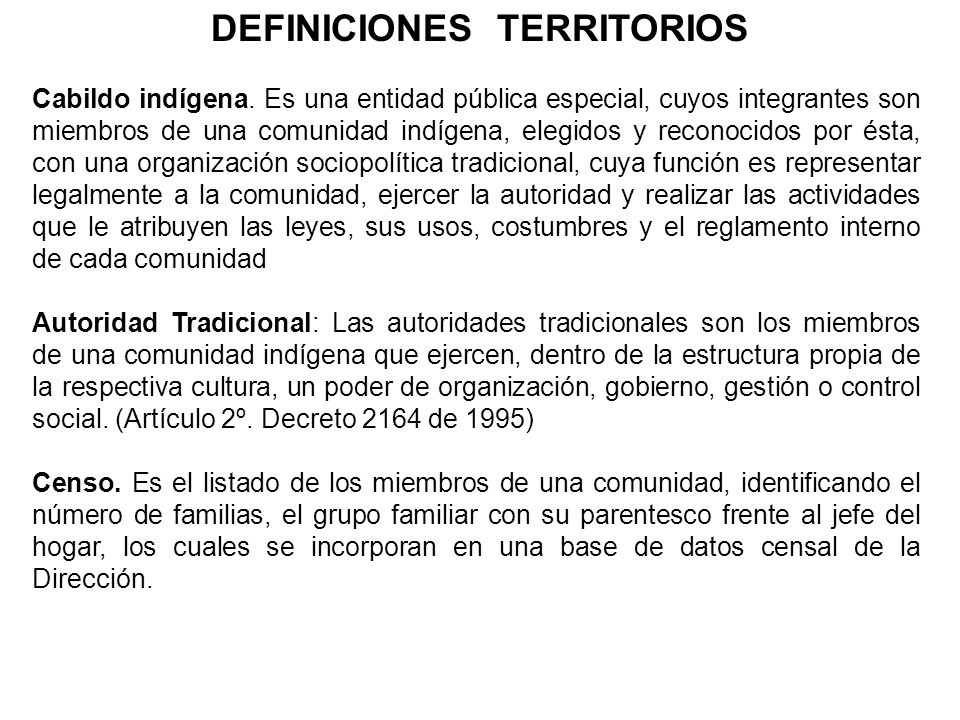 DEFINICIONES TERRITORIOS