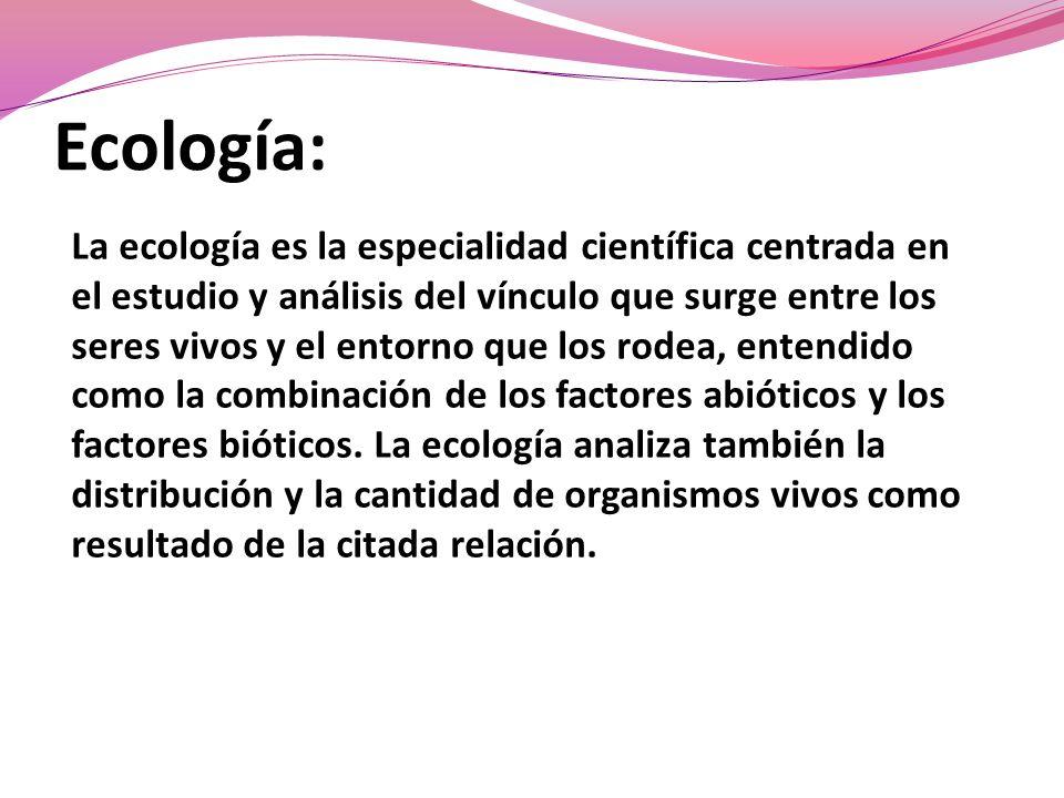 Ecología: