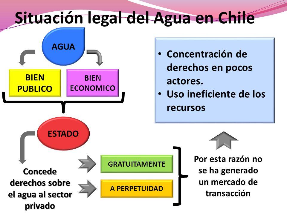 Situación legal del Agua en Chile