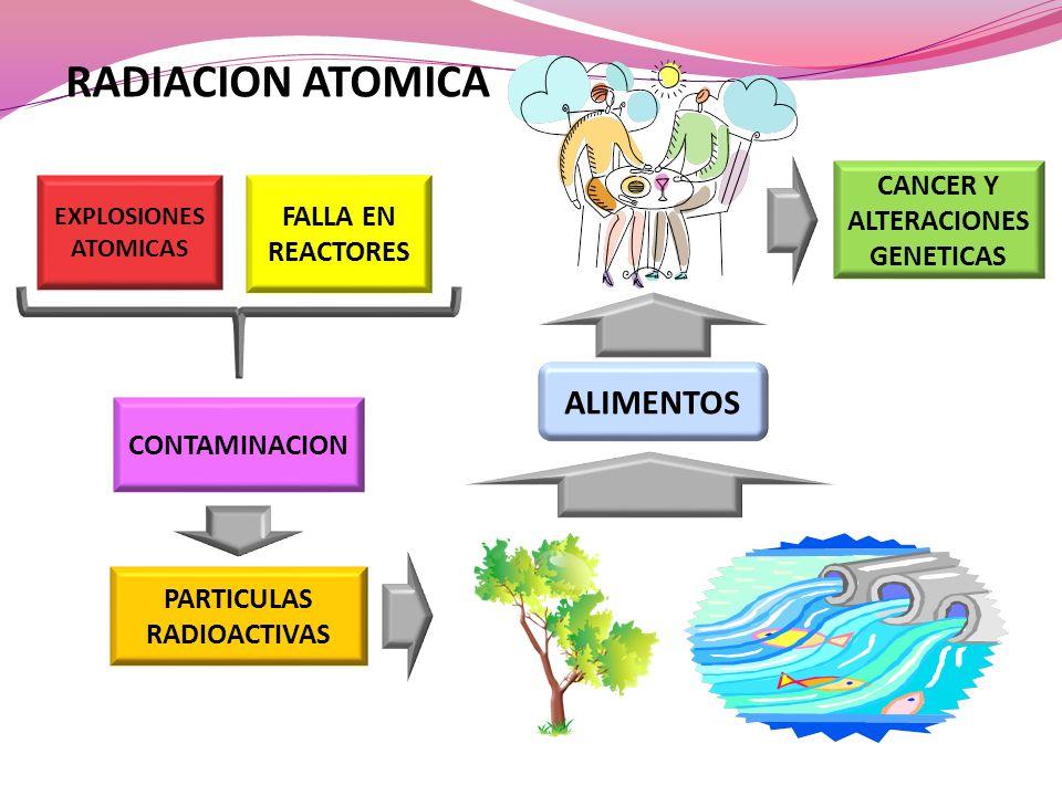 CANCER Y ALTERACIONES GENETICAS PARTICULAS RADIOACTIVAS
