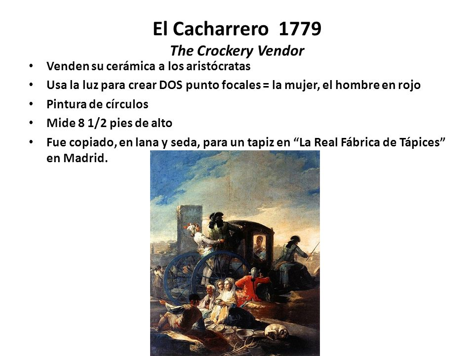 El Cacharrero 1779 The Crockery Vendor