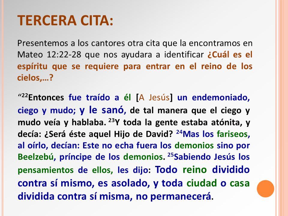 TERCERA CITA: