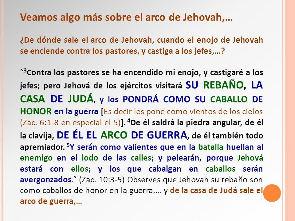 Veamos algo más sobre el arco de Jehovah,…