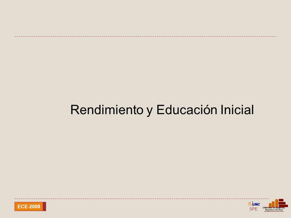 Rendimiento y Educación Inicial
