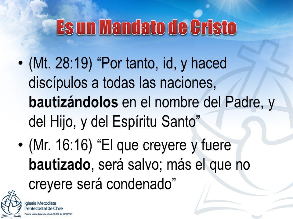 Es un Mandato de Cristo