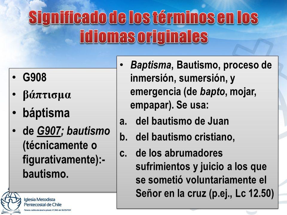Significado de los términos en los idiomas originales