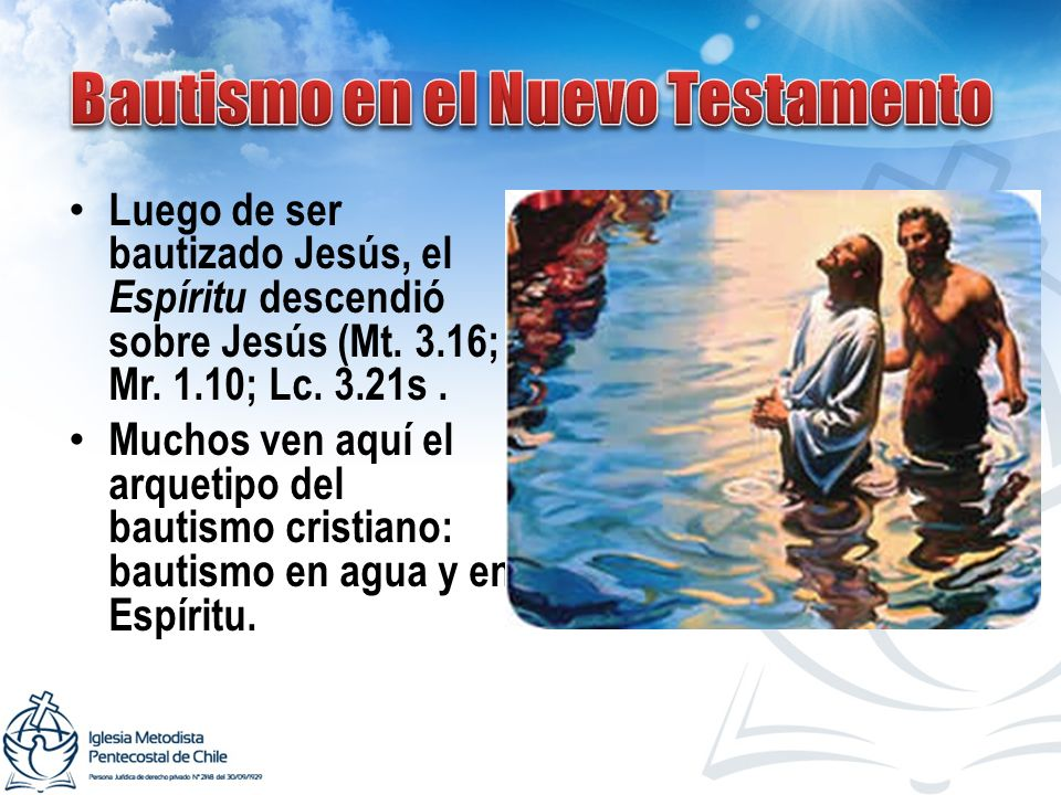 Bautismo en el Nuevo Testamento