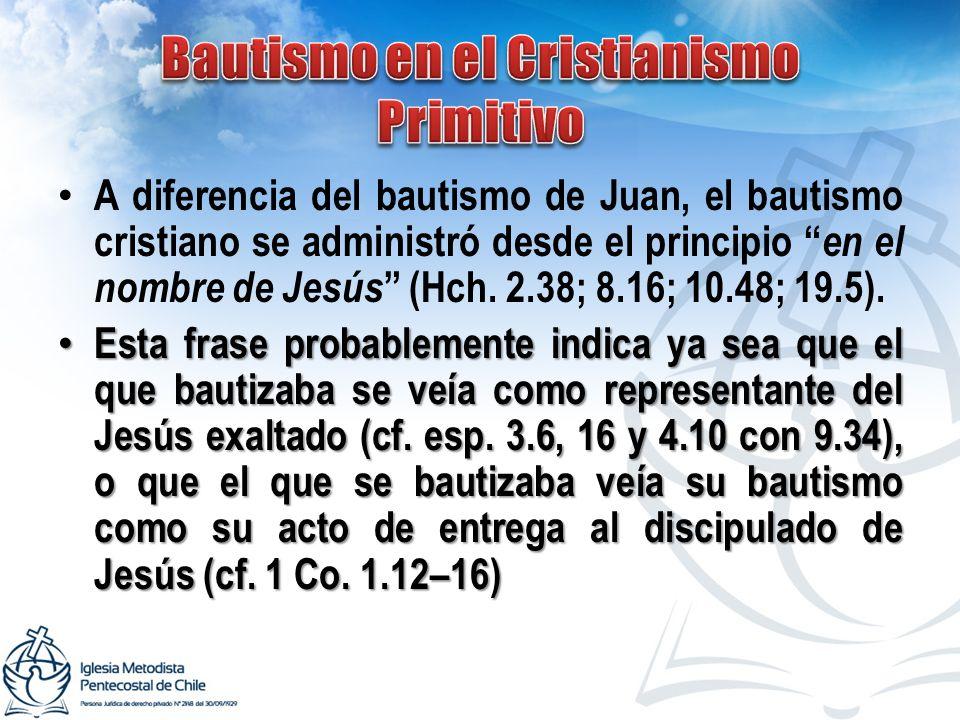 Bautismo en el Cristianismo Primitivo