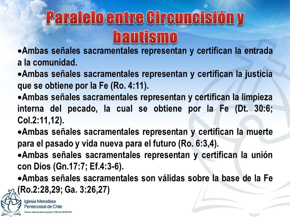 Paralelo entre Circuncisión y bautismo