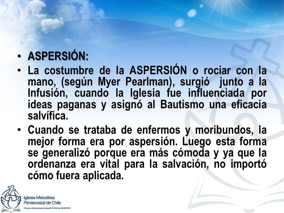 ASPERSIÓN: