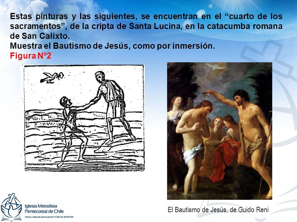 Muestra el Bautismo de Jesús, como por inmersión. Figura Nº2