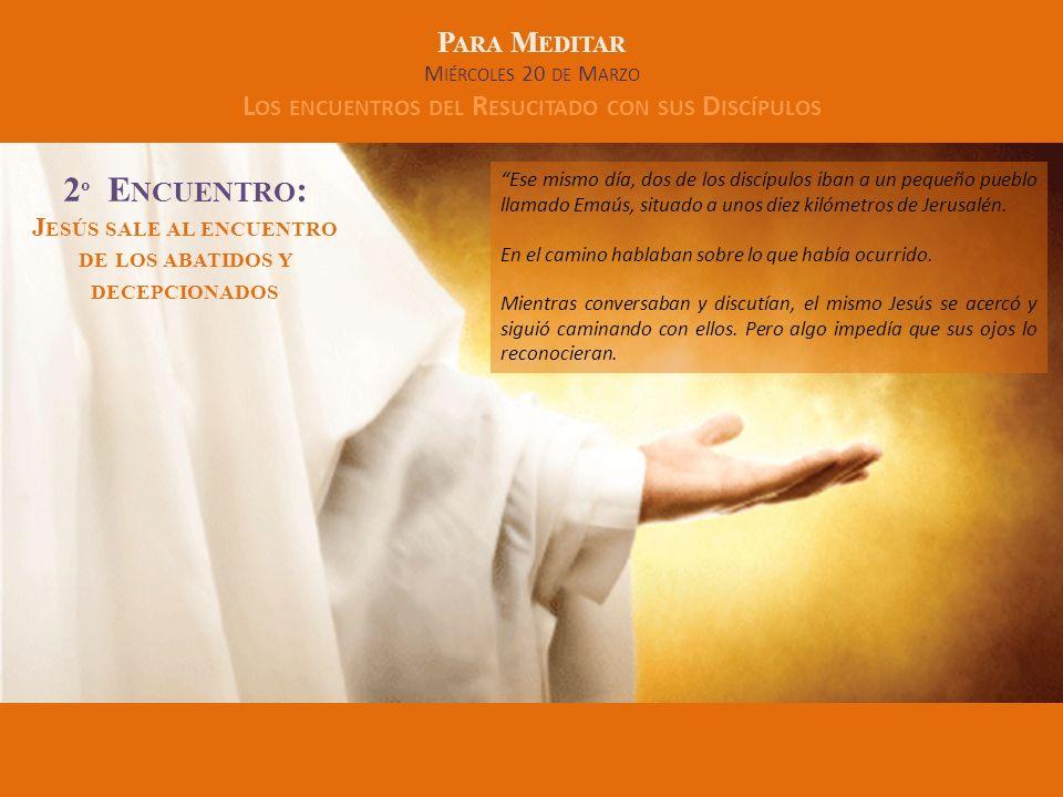 2º Encuentro: Jesús sale al encuentro de los abatidos y decepcionados