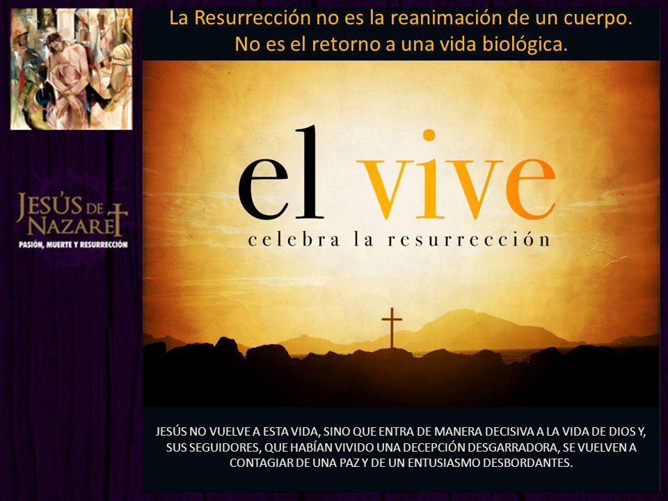 La Resurrección no es la reanimación de un cuerpo.