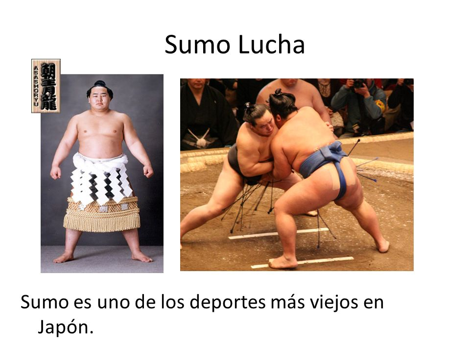 Sumo Lucha Sumo es uno de los deportes más viejos en Japón.