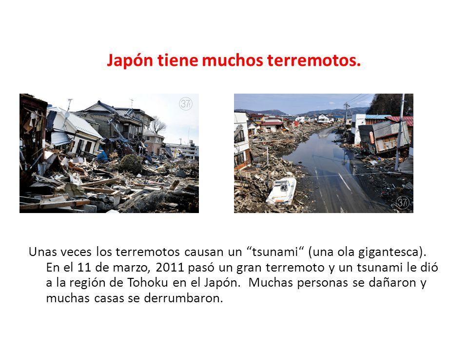 Japón tiene muchos terremotos.