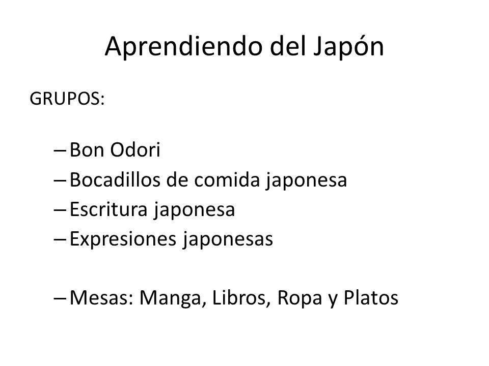 Aprendiendo del Japón Bon Odori Bocadillos de comida japonesa