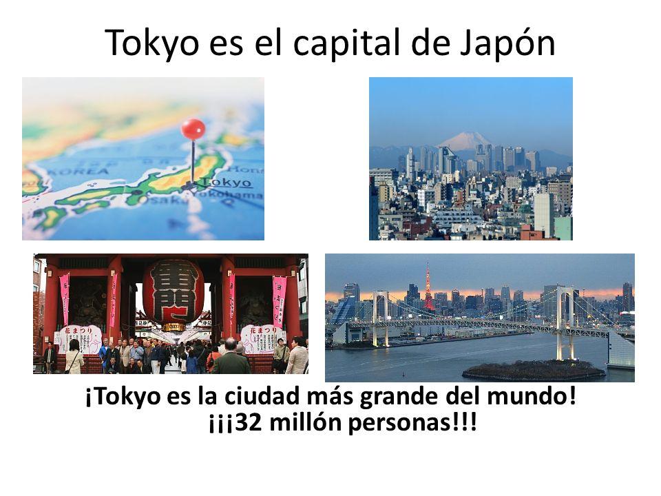 Tokyo es el capital de Japón