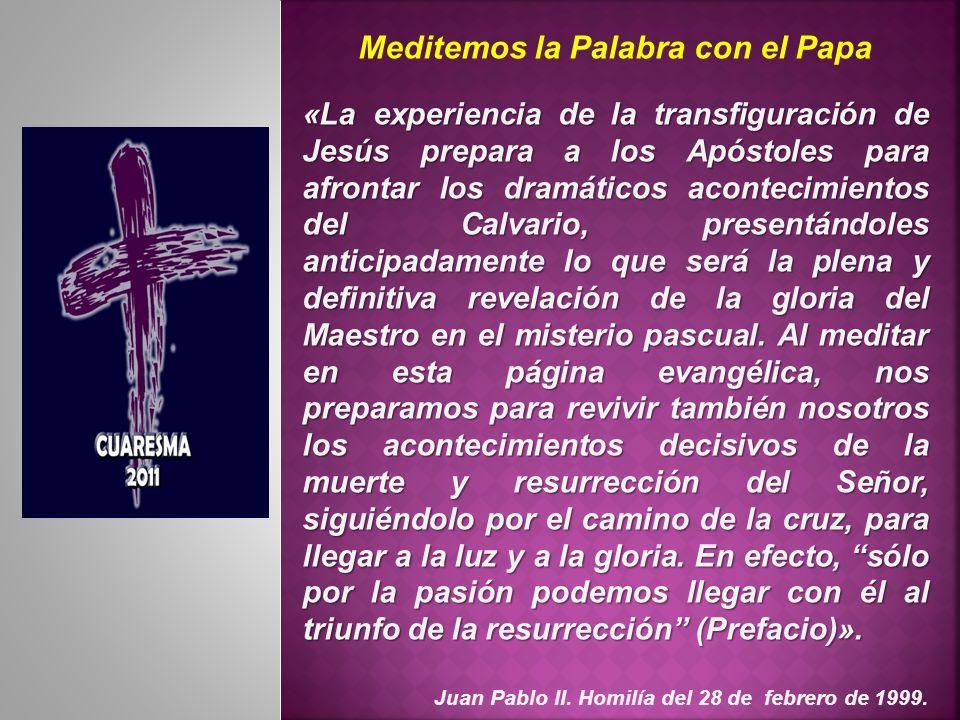 Meditemos la Palabra con el Papa