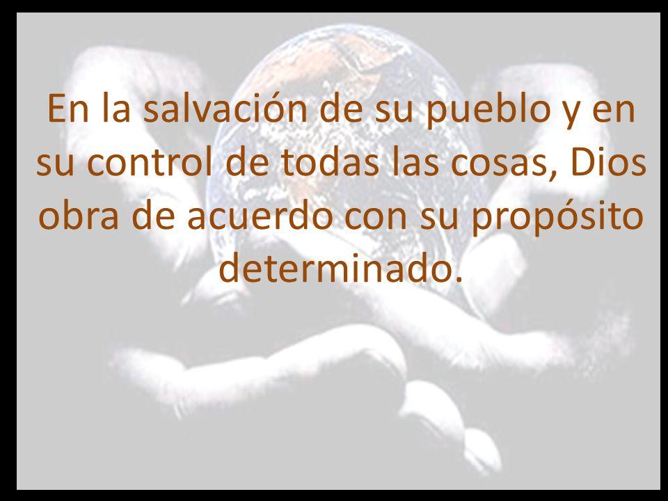 En la salvación de su pueblo y en su control de todas las cosas, Dios obra de acuerdo con su propósito determinado.