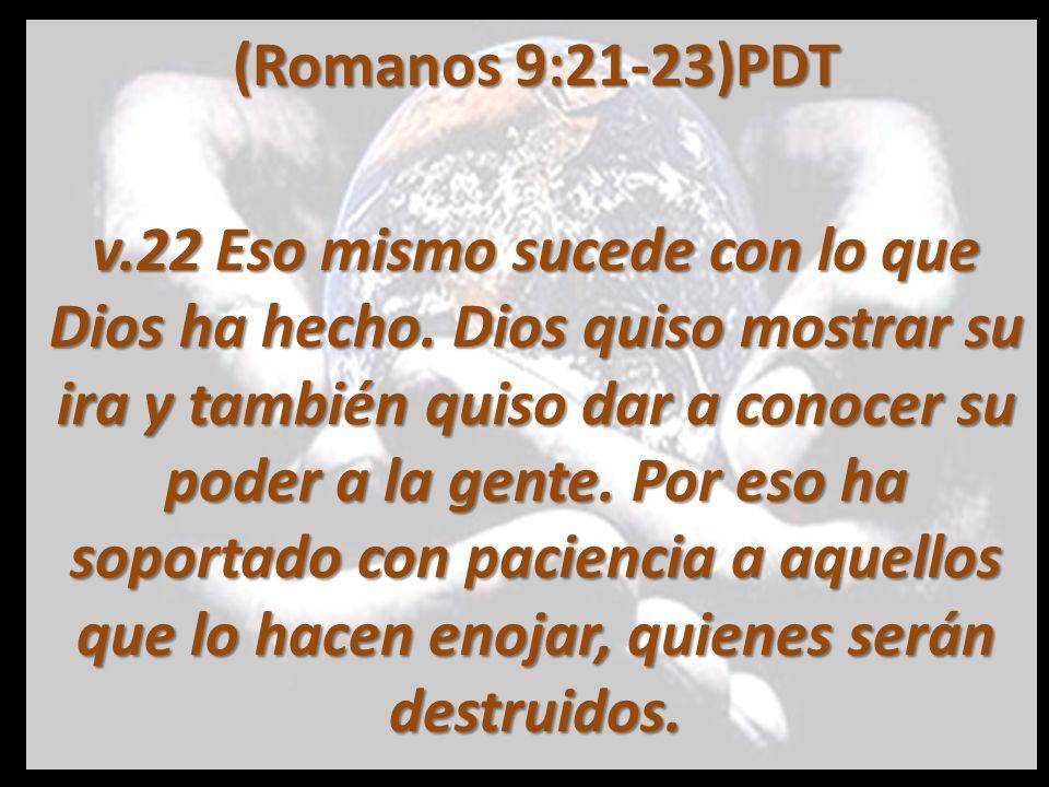 (Romanos 9:21-23)PDT