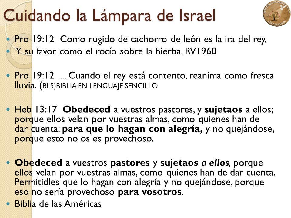 Cuidando la Lámpara de Israel