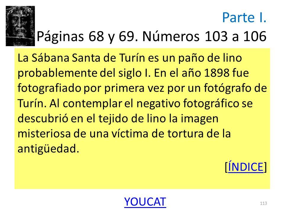 Parte I. Páginas 68 y 69. Números 103 a 106