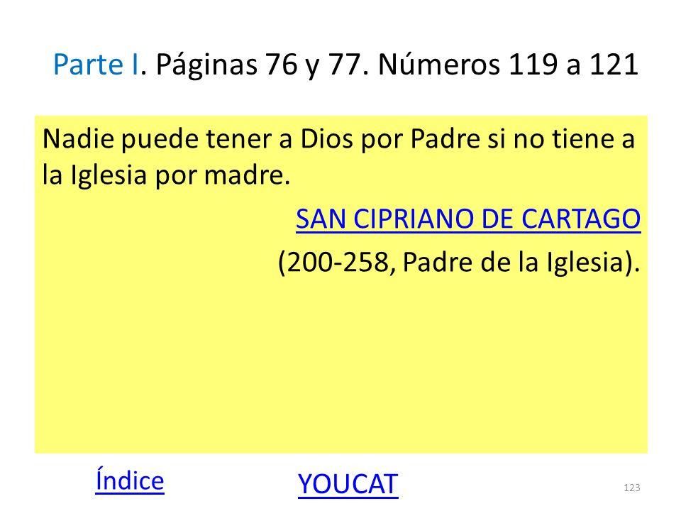 Parte I. Páginas 76 y 77. Números 119 a 121