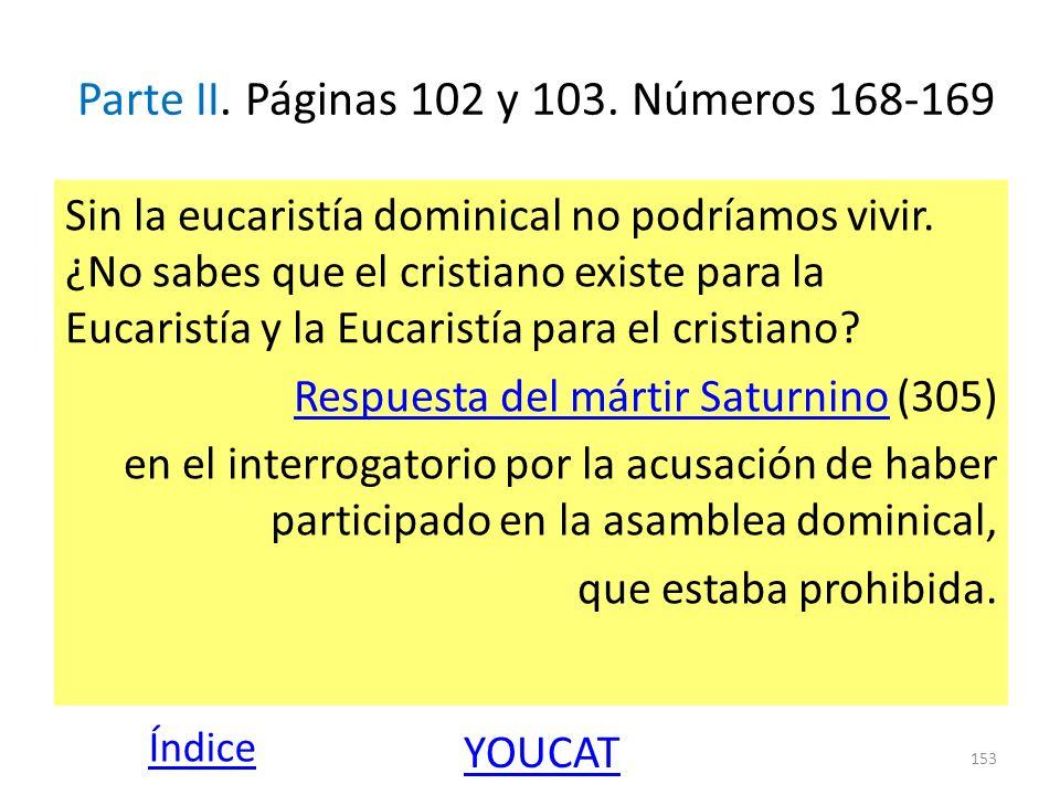 Parte II. Páginas 102 y 103. Números 168-169