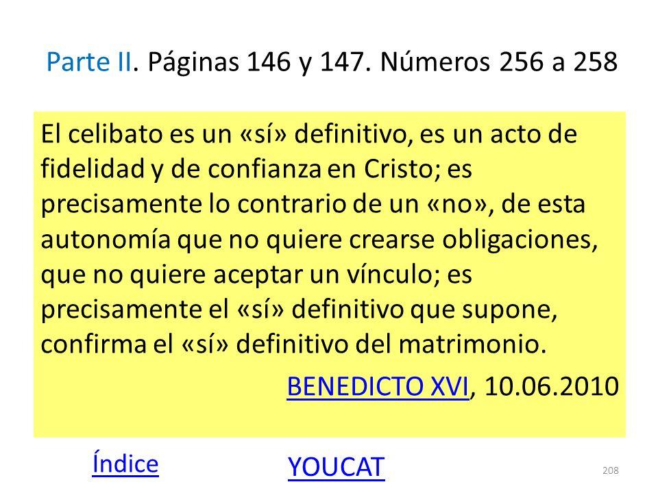 Parte II. Páginas 146 y 147. Números 256 a 258