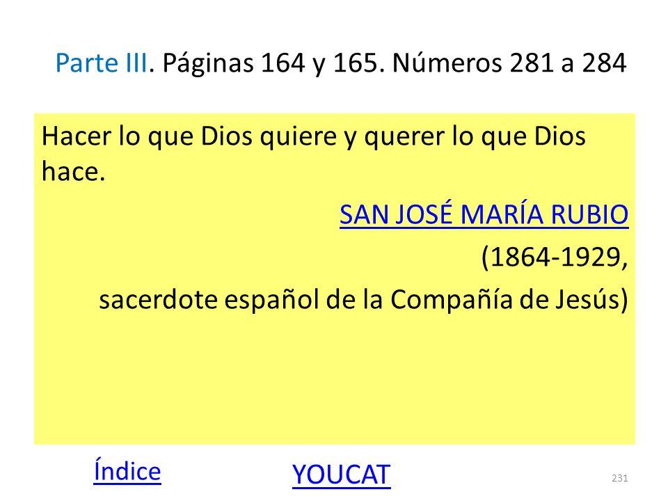 Parte III. Páginas 164 y 165. Números 281 a 284