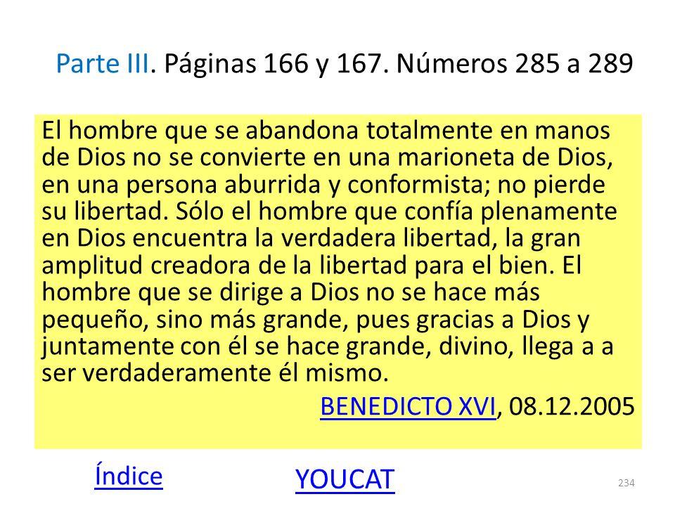 Parte III. Páginas 166 y 167. Números 285 a 289