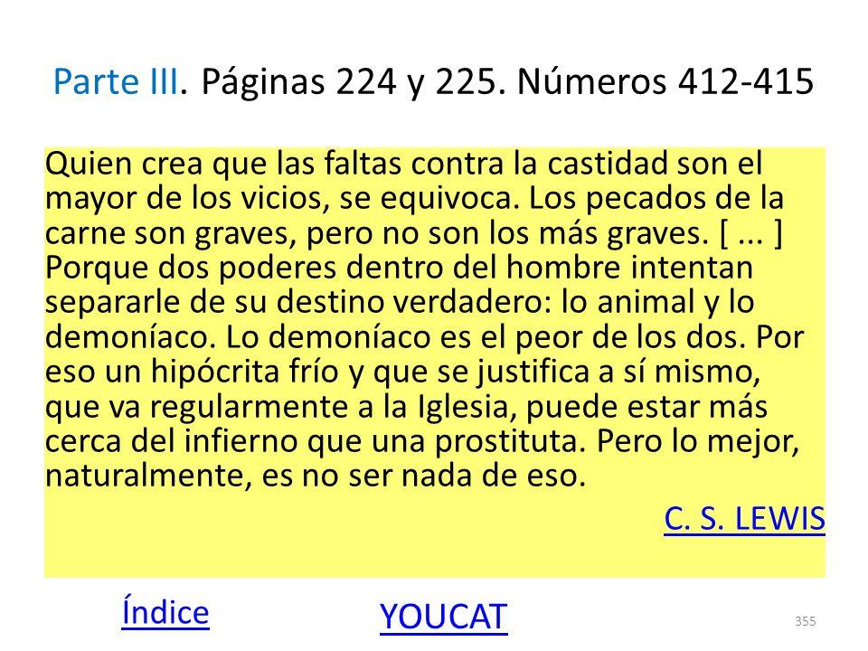 Parte III. Páginas 224 y 225. Números 412-415