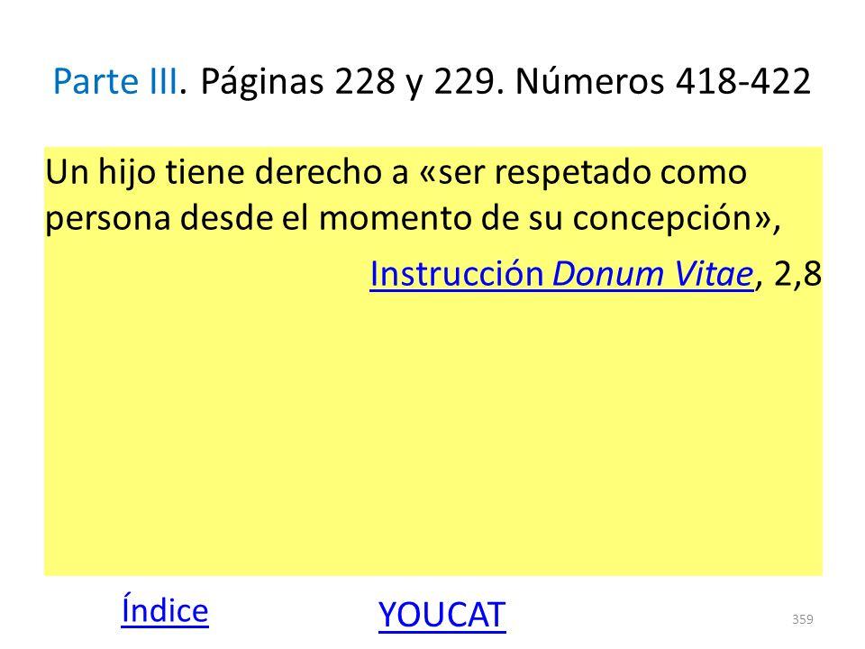 Parte III. Páginas 228 y 229. Números 418-422