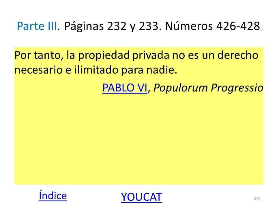 Parte III. Páginas 232 y 233. Números 426-428