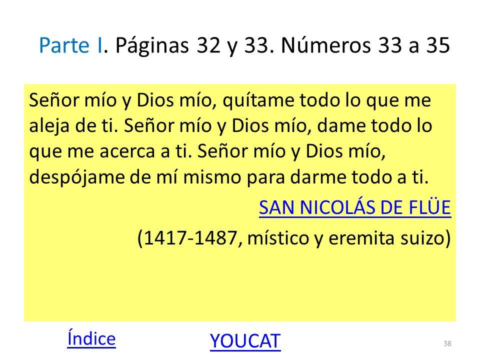Parte I. Páginas 32 y 33. Números 33 a 35
