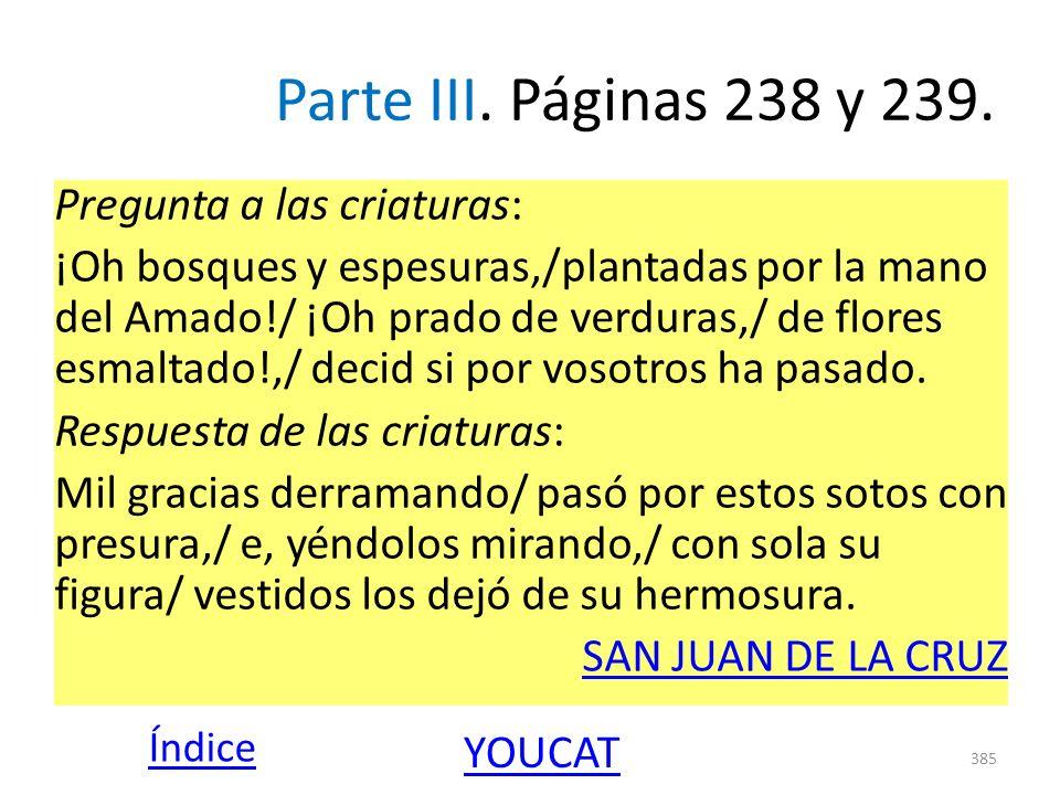 Parte III. Páginas 238 y 239.