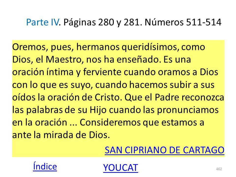 Parte IV. Páginas 280 y 281. Números 511-514