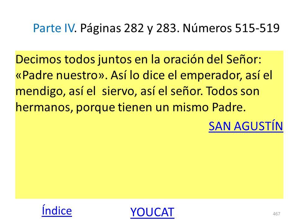 Parte IV. Páginas 282 y 283. Números 515-519
