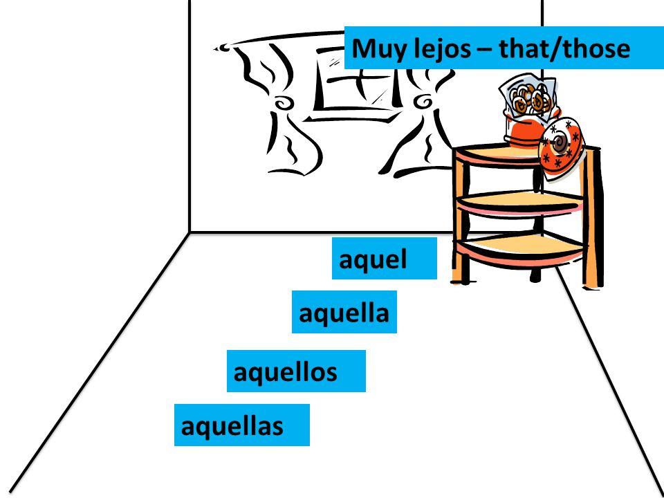 Muy lejos – that/those aquel aquella aquellos aquellas
