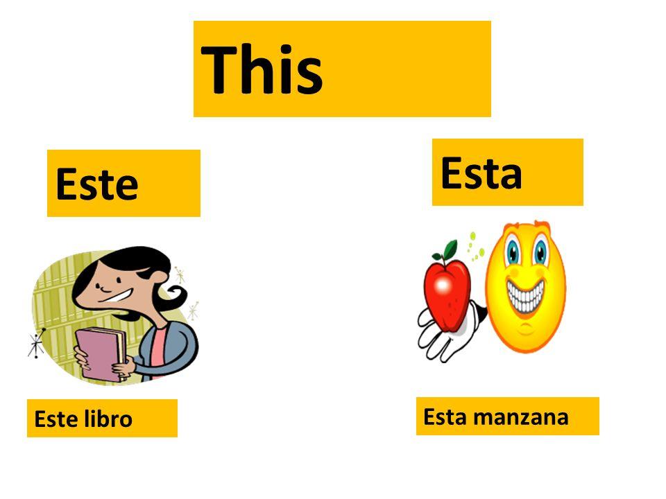 This Esta Este Este libro Esta manzana