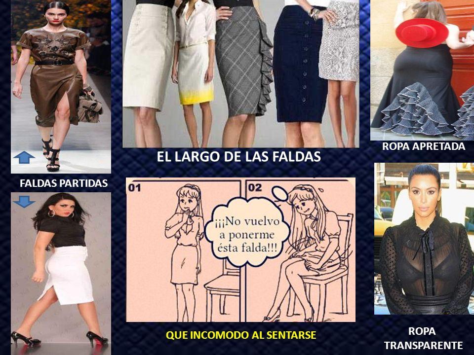 EL LARGO DE LAS FALDAS ROPA APRETADA FALDAS PARTIDAS ROPA