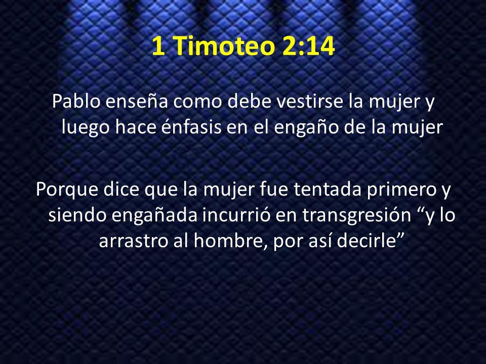 1 Timoteo 2:14